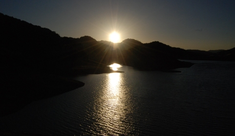 Sunset at Uvas Reservoir