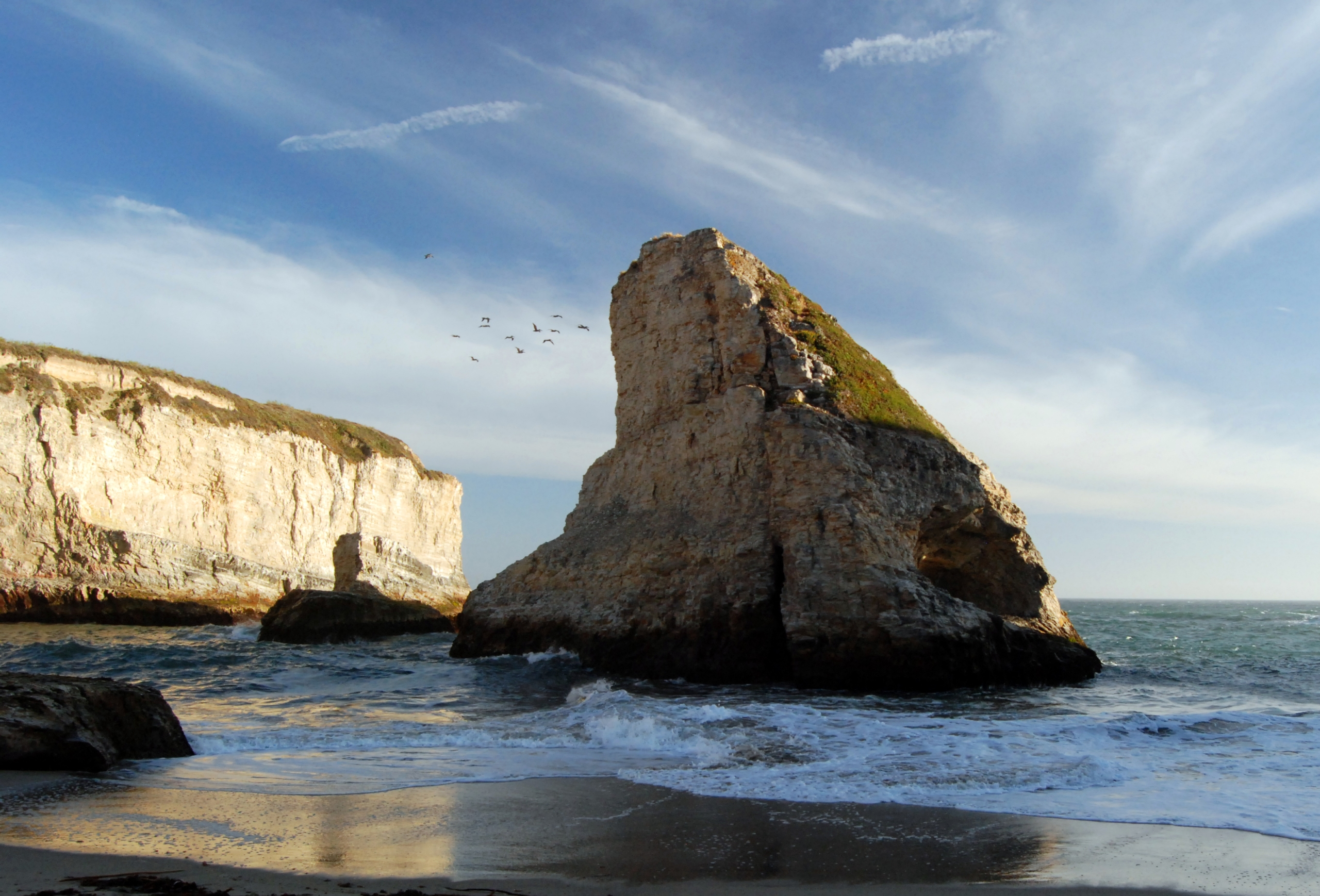 shark fin cove beach