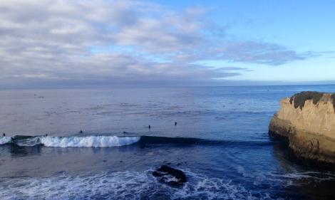 santa cruz cliff surfing