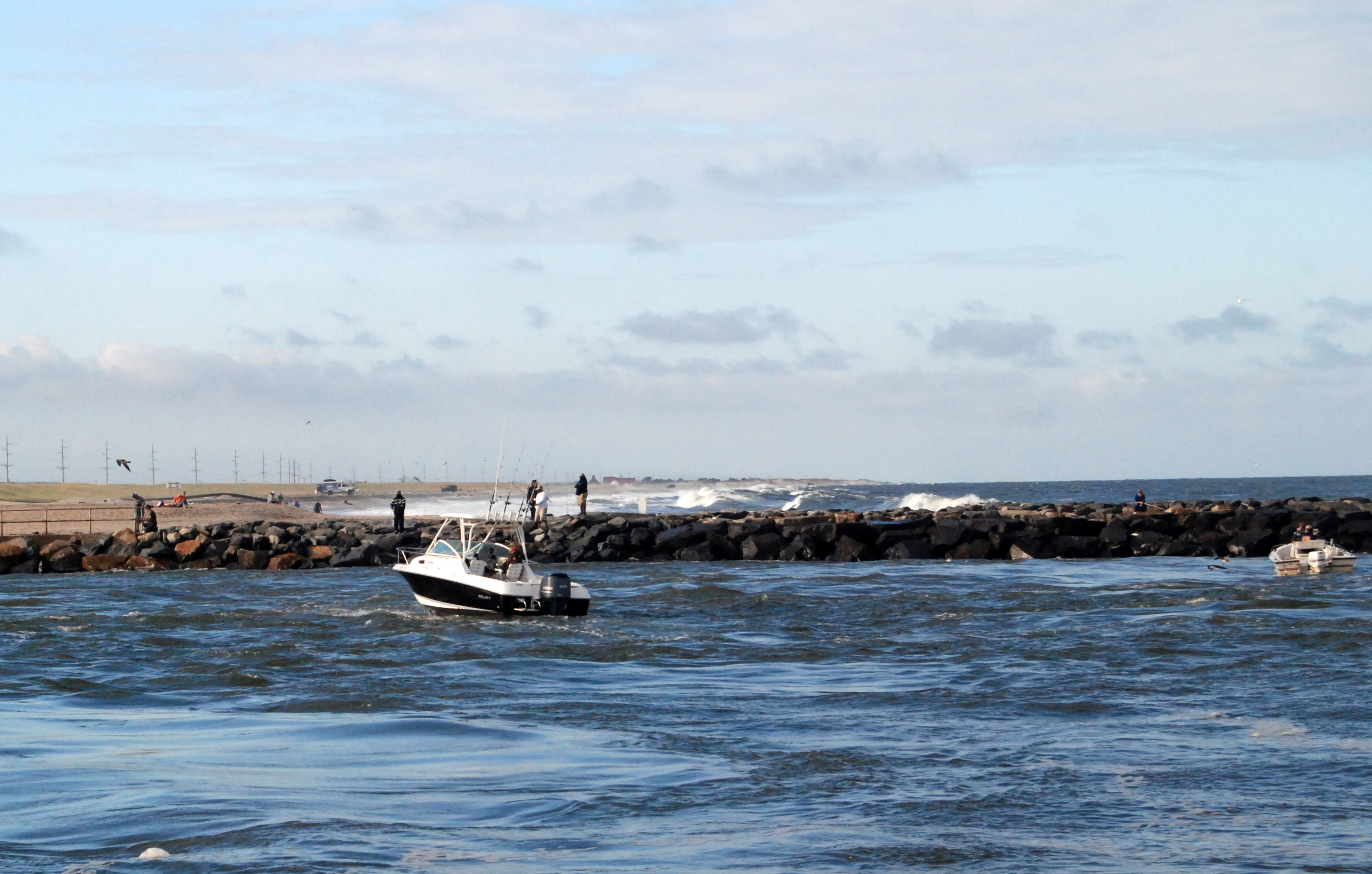 The indian river inlet shore looks nice for Rehoboth beach fishing