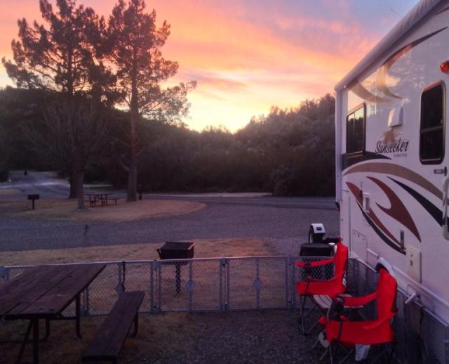 Gotta love a good Sunset at the Campground