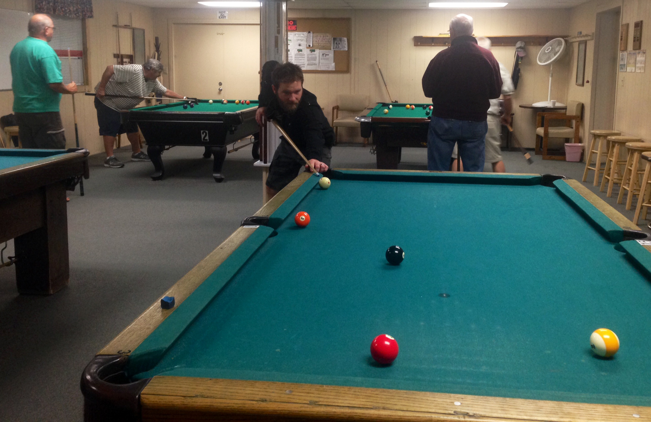 Many RV Resorts have Billiards. Some even have tournaments.