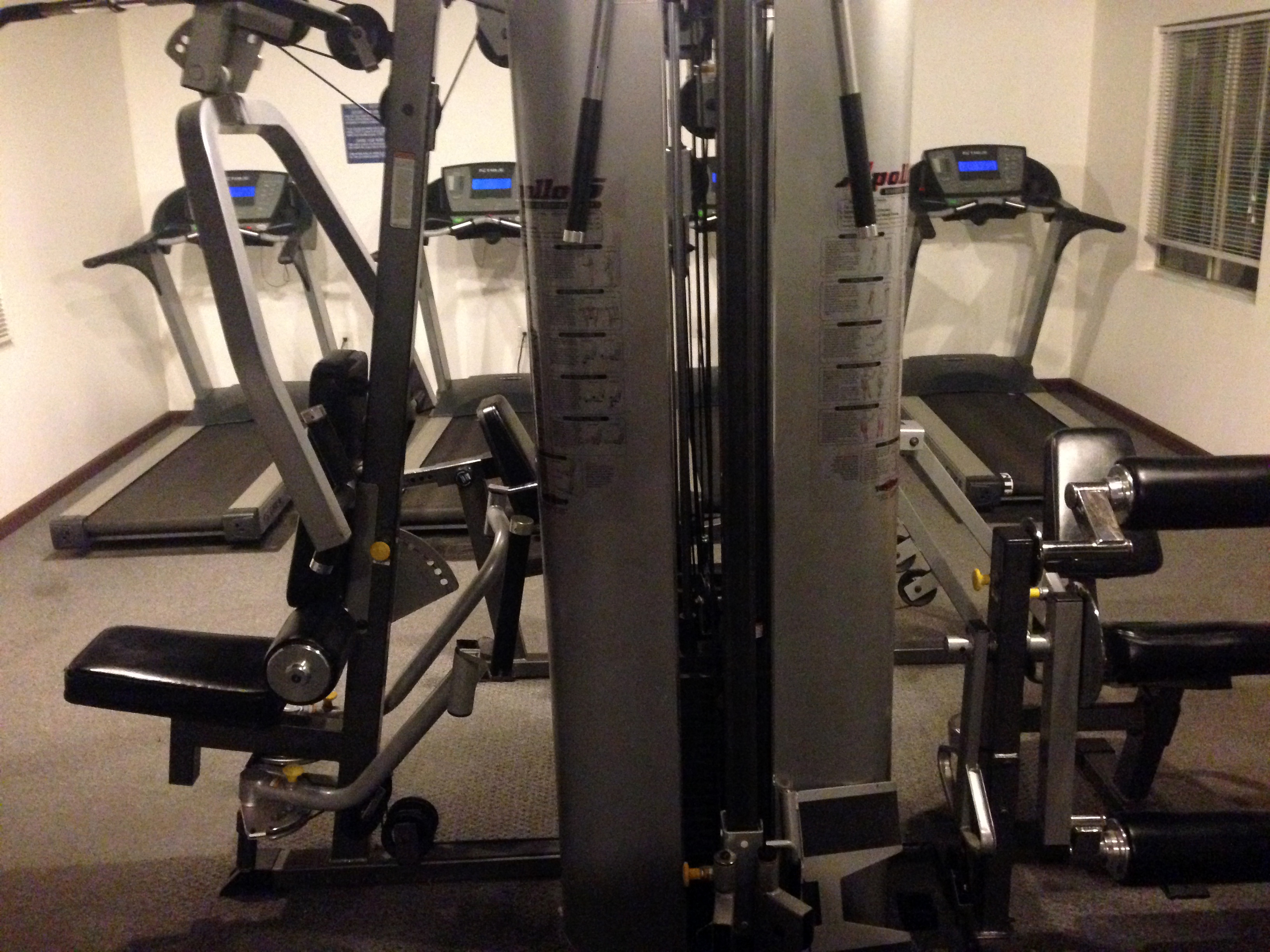 Many RV Resorts have workout facilities for people to stay in shape.