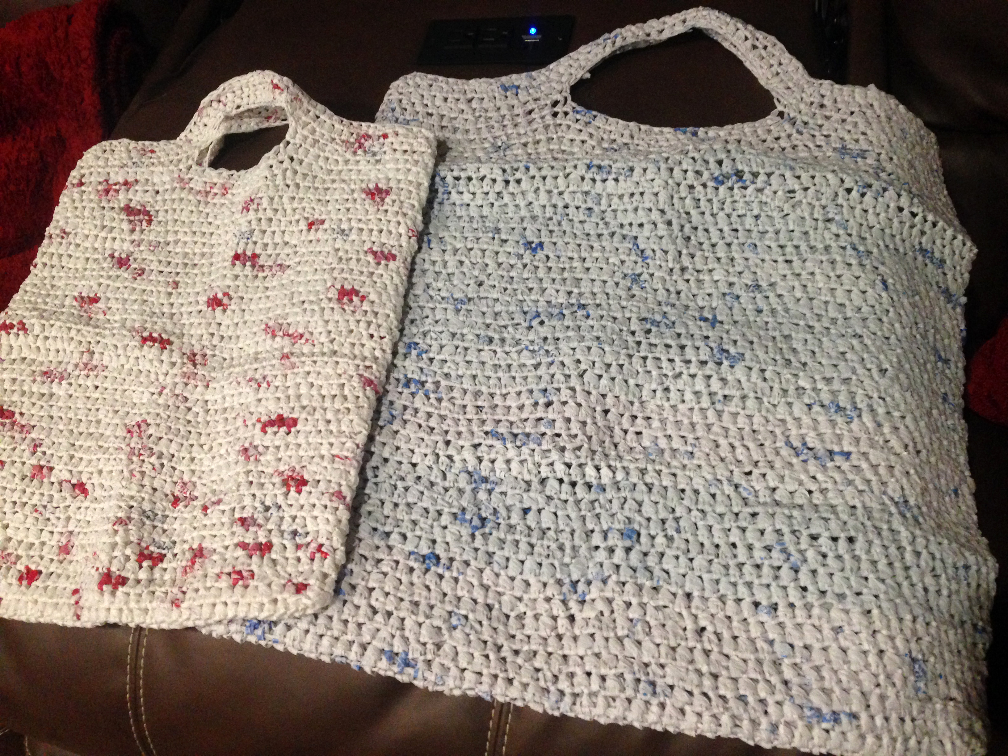 What will you do when you retire. This RVer makes bags from Target and Walmart plast bags to give to other RVers that she meets.
