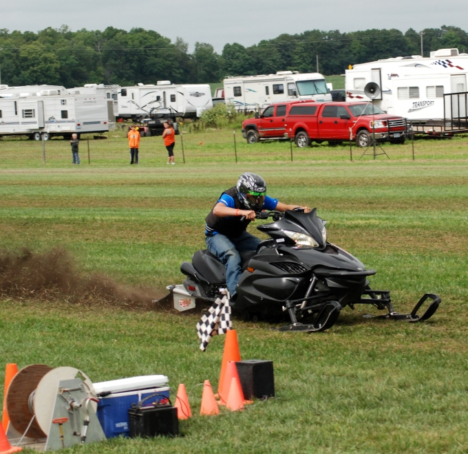 RVers from all over the country come to Princeton, MN each year in August for summer snowmobile racing