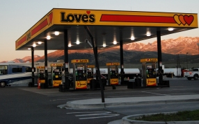 Tuesday Tip, Insurance companies say the #1 claim by RVers is accidents at the pump. Usually providing extra room, truck stops are a great way to stay safe at the pump.