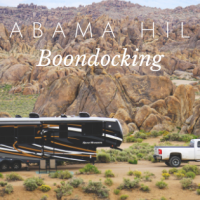 Hitchhiking while Boondocking in the Alabama Hills